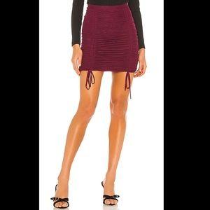 NBD Nola Skirt in Burgundy Size Large